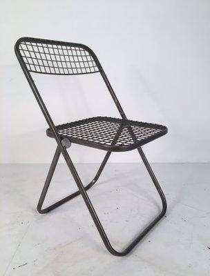 Sillas Plegables De Metal De Niels Gammelgaard Para Ikea Anos 70