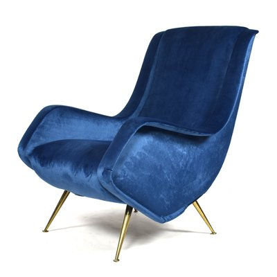 Vintage Lounge Stoel.Vintage Italian Lounge Chair By Aldo Morbelli For Isa Bergamo