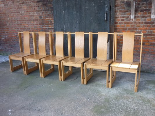 Swedish Church Chairs 1950s Set Of 6 For Sale At Pamono