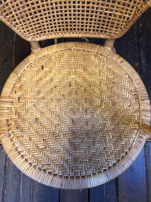 Mid Century Round Wicker Chair For Sale At Pamono