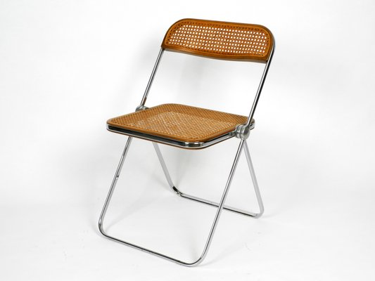 Giancarlo Piretti Design.Vintage Model Plia Folding Chair By Giancarlo Piretti For Castelli 1960s