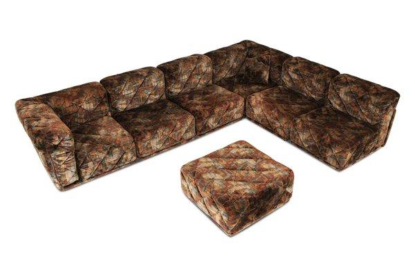 Fine Vintage Post Modern Colored Velvet Sectional Sofa Evergreenethics Interior Chair Design Evergreenethicsorg