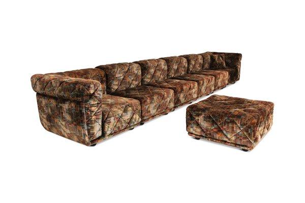 Brilliant Vintage Post Modern Colored Velvet Sectional Sofa Uwap Interior Chair Design Uwaporg