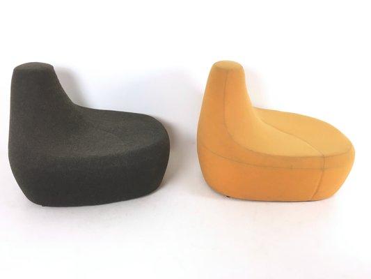 Poltrone In Poliuretano.Poltrone In Poliuretano Color Nero E Giallo Italia Anni 70 Set Di 2