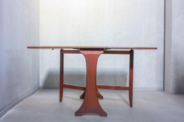 Mesa de comedor plegable vintage de teca de G-Plan, años 60