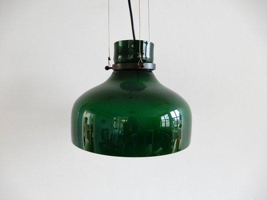 cfa8000fbda2 Vintage Green Glass Pendant Lamp for sale at Pamono