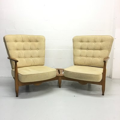 French Sofa Chairs By Guillerme Et Chambron For Votre Maison 1950s Set Of 2