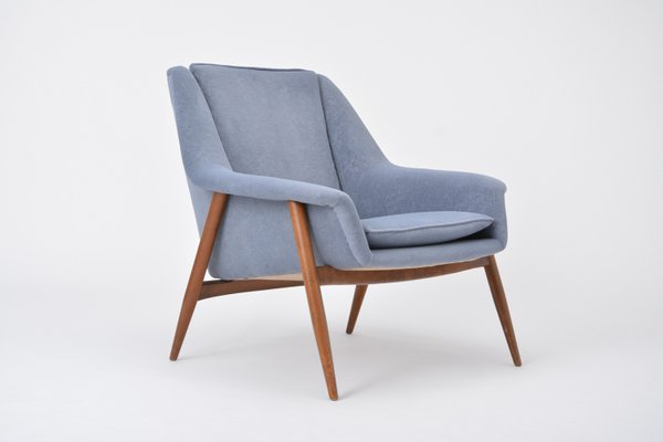 Customizable Mid Century Teak Lounge Chair, 1960s for sale