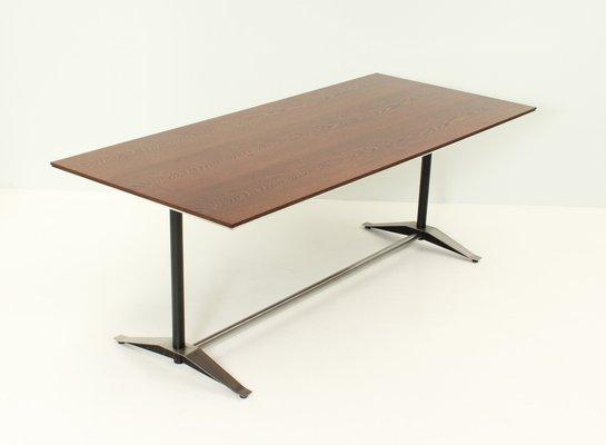 Mesa de comedor de madera de wengué de Alberto Rosselli para Arflex ...