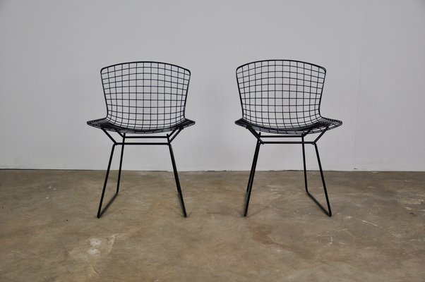Chaises Harry Bertoia Pour Knoll International 1952 Set De 2