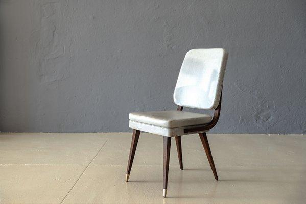 Sedie da pranzo mid century moderne francia anni 50 set di 6 in