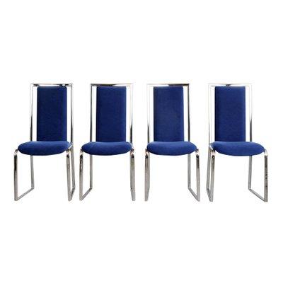Moderne Esszimmerstühle Aus Chrom 1980er 8er Set Bei Pamono Kaufen