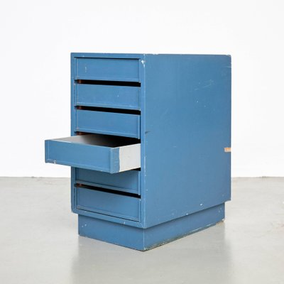 Vintage Blue Chest Of Drawers 1960s
