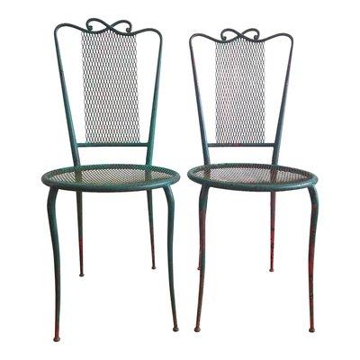 Set Sedie Da Giardino.Sedie Da Giardino Vintage In Acciaio Verniciato Anni 50 Set Di 2