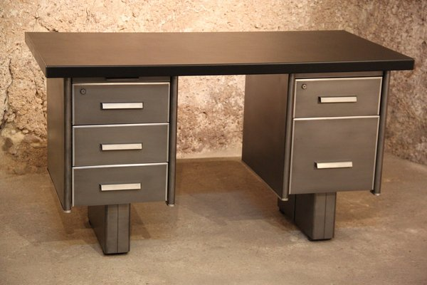vintage industrial metal desk from strafor 1950s for sale at pamono rh pamono com metal school desk for sale used metal desk for sale