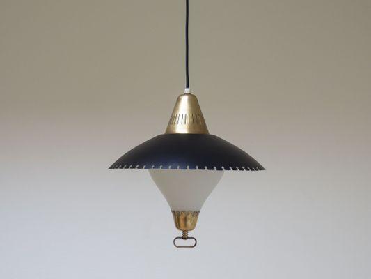 Lampade A Sospensione Vintage : Lampada a sospensione vintage di benr karlby danimarca anni 50 in