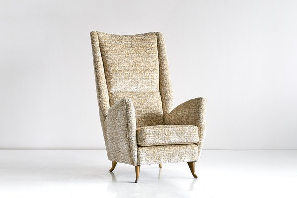 Isa High Back Armchair By Gio Ponti For Isa Bergamo 1950s For Sale