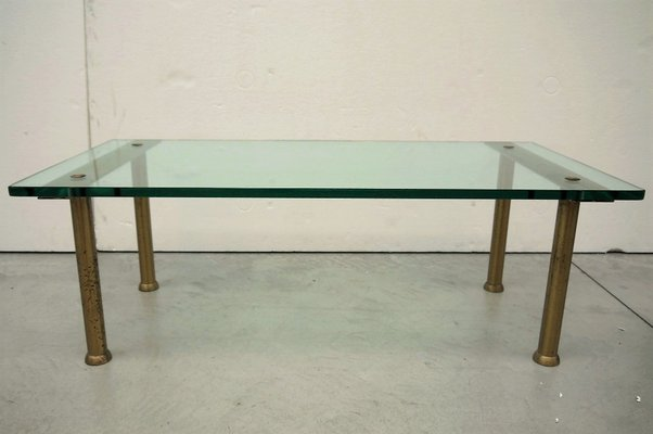 Italian Glass Coffee Table.Vintage Italian Glass Coffee Table
