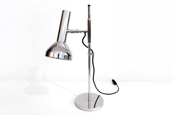 Lampada da scrivania vintage in metallo cromato di marcello