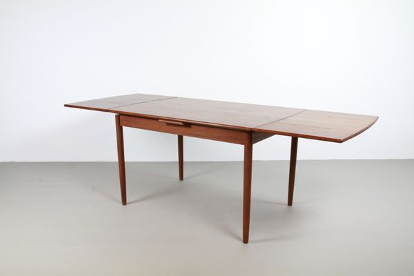 eb3652691877 Vintage Danish Teak Extendable Dining Table for sale at Pamono