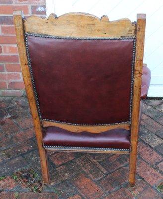 Fabulous Beech And Deep Red Leather Chair 1930S Frankydiablos Diy Chair Ideas Frankydiabloscom