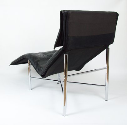 Pleasant Vintage Black Leather Lounge Chair By Tord Bjorklund For Ikea 1980S Pabps2019 Chair Design Images Pabps2019Com
