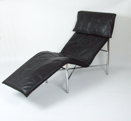 Sensational Vintage Black Leather Lounge Chair By Tord Bjorklund For Ikea 1980S Pabps2019 Chair Design Images Pabps2019Com