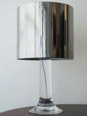 Vintage French Lucite Table Lamp