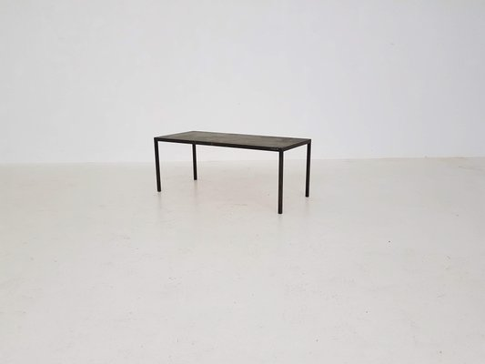 Vintage Metal Stone Coffee Table 1970s For Sale At Pamono