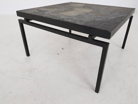 Stone And Metal Coffee Table 1970s For Sale At Pamono