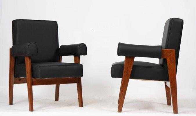 Sedie Lawyer di Le Corbusier e Pierre Jeanneret, 1955, set di 2 in ...