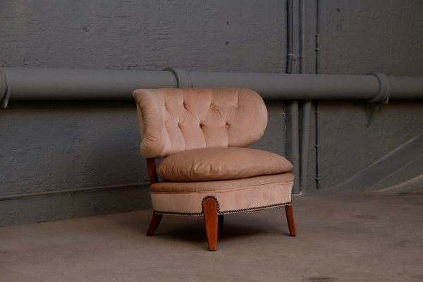 Vintage Lounge Chair By Otto Schulz For Boet 1940s
