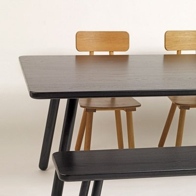 Admirable Large Black Ash Dining Table One By Another Country Download Free Architecture Designs Rallybritishbridgeorg