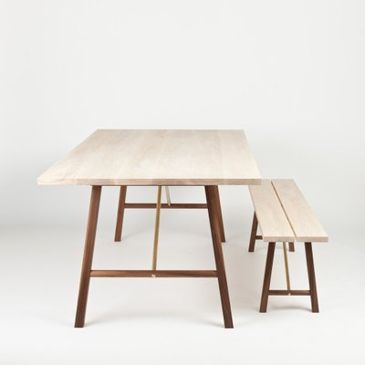 Small Ash Walnut Dining Table Two By Another Country 2