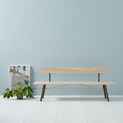 Superb Small Ash Walnut Bench Back Two By Another Country Unemploymentrelief Wooden Chair Designs For Living Room Unemploymentrelieforg