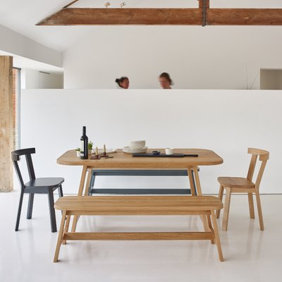 Grey Lacquered Oak Dining Table Three