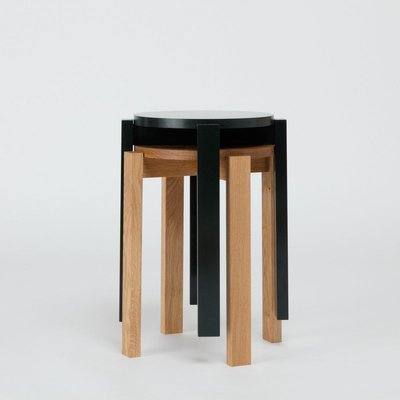 Wondrous Oak Stool Four By Another Country Dailytribune Chair Design For Home Dailytribuneorg