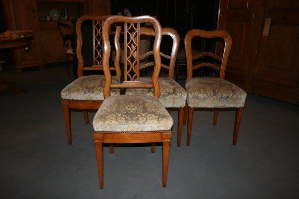 Antique Biedermeier Chairs Set Of 4