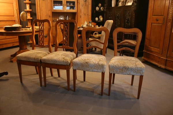 Antique Biedermeier Chairs Set Of 4 For Sale At Pamono