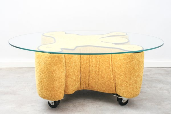 Vintage Pop Art Coffee Table By Keith Haring For Bretz 1980s