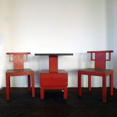 Fantastic Antique Table Two Chairs 1900S Gmtry Best Dining Table And Chair Ideas Images Gmtryco