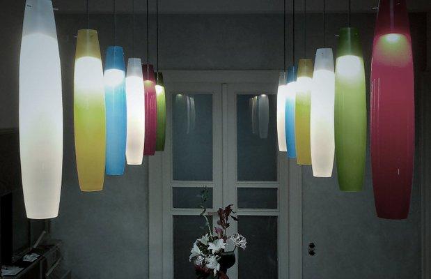 Lampade In Vetro Di Murano : Lampade in vetro di murano di alessandro pianon per vistosi anni