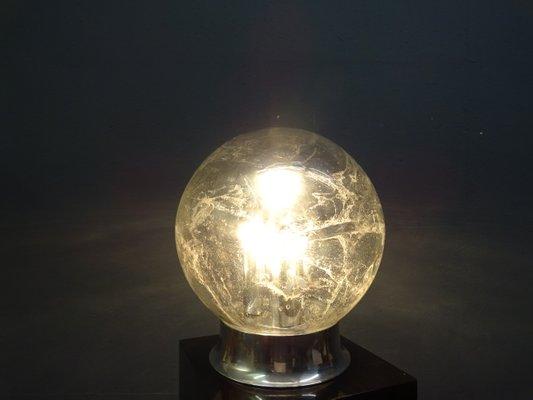 Vintage Chrome & Glass Floor Lamp from Doria Leuchten