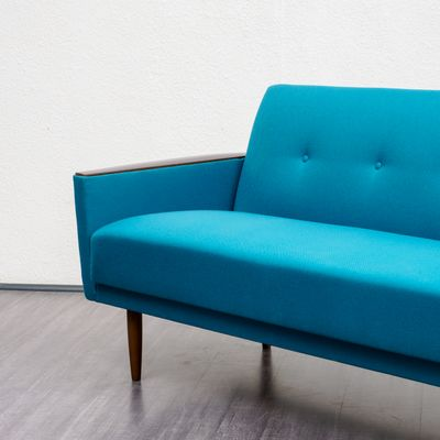 Petrol Blue Collapsible Sofa 1960s For Sale At Pamono