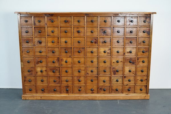 Dutch Pine Apothecary Cabinet Or Bank Of Drawers 1940s For Sale At