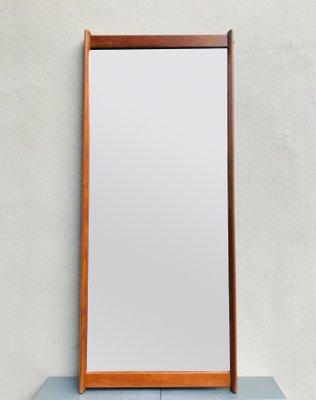 Specchio Da Parete Grande Con Cornice.Specchio Da Parete Grande Con Cornice In Teak Di Aksel Kjersgaard Anni 60