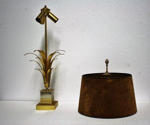 Boulanger1970s Regency En Laiton Feuille Avec Forme De Bureau Lampe Pied D'ananas pjLzMSUVqG