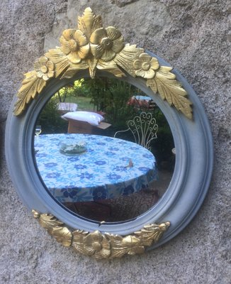 Antique Round Mirrors Set Of 2 1