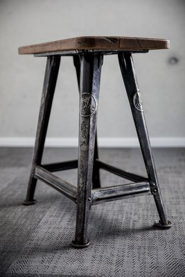 Swell Vintage 4 Legged Stool By Robert Wagner For Rowac Ibusinesslaw Wood Chair Design Ideas Ibusinesslaworg