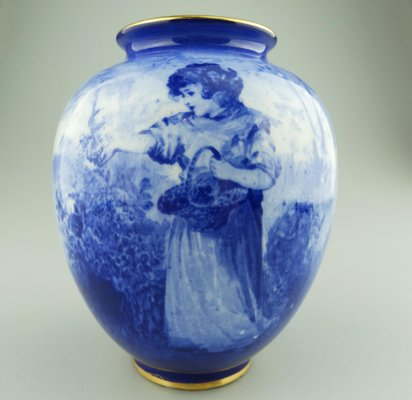 Antique Blue Vase from Royal Doulton